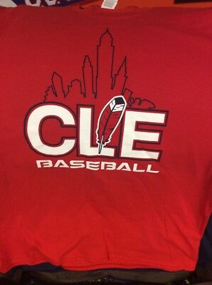 8ed2d3c6 Cleveland Indians CLE Feather Tee Shirt Mens Size XLarge Brand New