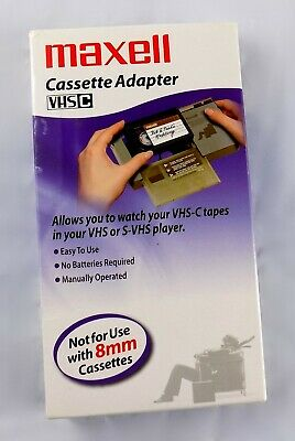 Maxell VHS-C Cassette to VHS Adapter VP-CA Video Tape Player Converter NEW
