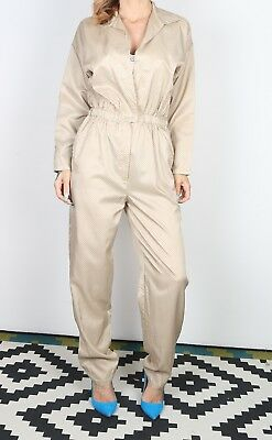 Jumpsuit Polka Dot Patterned UK 10 Small All in one 90's  (DA-G)