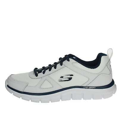 SKECHERS UOMO 52631/WNV BIANCO Sneakers Primavera/Estate Pelle/nylon
