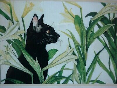 New Sophisticated Cat Embroidery Needlework Kit