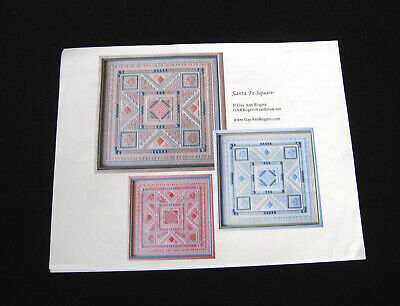 "Counted Needlepoint Pattern, ""Santa Fe Square"", By Gay Ann Rogers, Brand New"