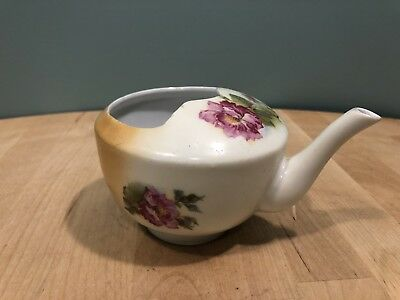 Antique Invalid Feeder Cup: Floral Design