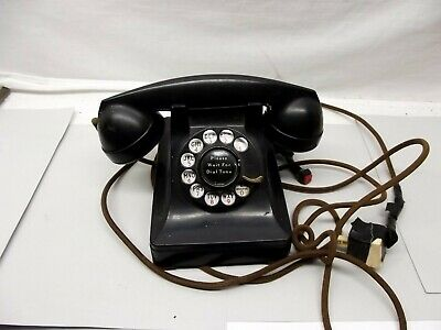 Vintage 1940s Bell System Western Electric 302 Bakelite Rotary Dial Telephone F1