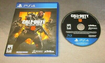 Call of Duty: Black Ops 4 IV IIII GAME for Playstation 4 PS4 system BLACK OUT