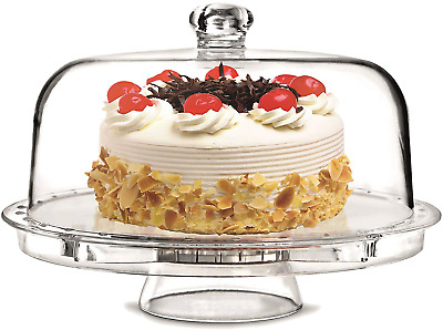 Rammento Multifunctional 5 in 1 Cake Stand and Dome. Wedding Cake Dome, Punch &