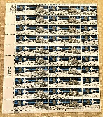 Scott# 1434-1435 1971 8 Cent United States in Space Stamp Mint Sheet
