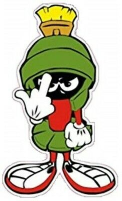 Marvin Martian W/middle Finger Laptop Sticker Bumper Sticker Window Sticker