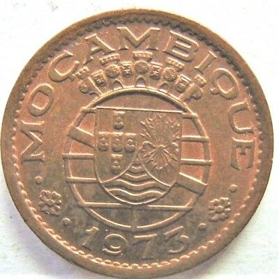 1973 MOZAMBIQUE  PORTUGUESE , 20 CENTAVOS, Two year type grading UNCIRCULATED.