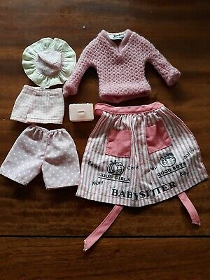 Vintage original barbie apron, knit etc/  -mattel.