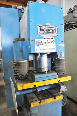 "170 Ton x 17"" Used Beckwood C-Frame (Down Acting) Hydraulic Press CF170F110P1618"
