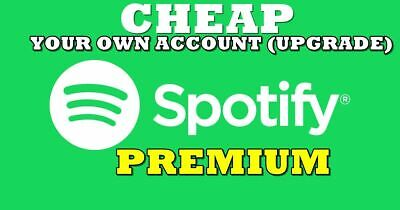 🔥🔥 Spotify PREMIUM UPGRADE 1 YEAR - YOUR OWN ACCOUNT - WORLDWIDE  🔥🔥