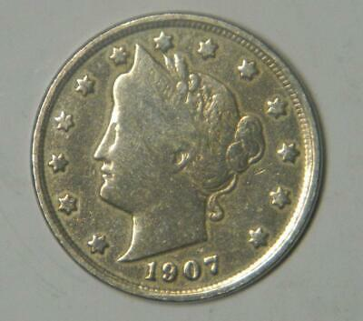 "1907 LIBERTY HEAD OR V NICKEL ""POLISHED"" #1112 glb"