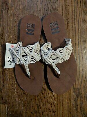 dbd1390bf Women s Billabong Thong Sandals Size 8 Crochet Flip Flops NWT