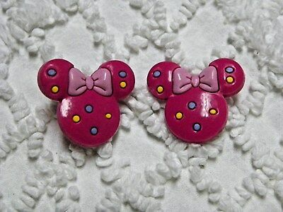 Croc Clog 3D Pink Minnie Mouse Plug Shoe Charms Will Also Fit Jibitz,Croc  C 794