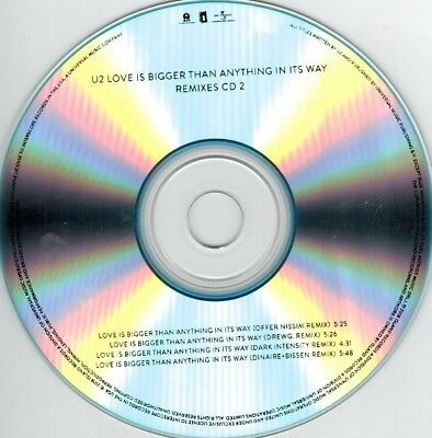 U2 - Love Is Bigger Than Anything In Its Way - Remix CD #2 (promo CD-R) 4 tracks