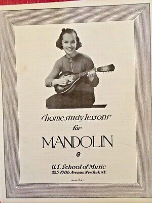 Antique MANDOLIN Home Study Course 24 Music LESSONS Booklet