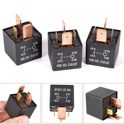 Waterproof Heavy Duty Relay 4Pin DC 24V 12V 80A JD1912 Automotive Car Relay T Wv