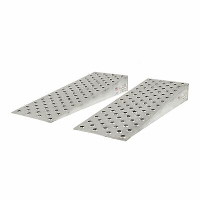 """Aluminum High-Traction Shipping Container Ramp Wedges - 48"""" L x 16"""" W"""