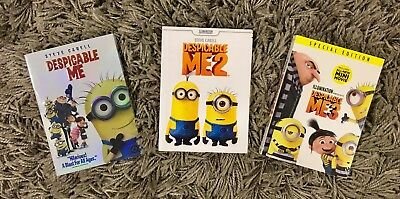 Despicable Me 1, 2, and 3 Trilogy 3-DVD Bundle Set (BRAND NEW) Free Shipping