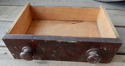 Antique Mid 1800's Wooden Drawer - Drawer Only -11 1/2 Wide - Hand Cut Dovetails