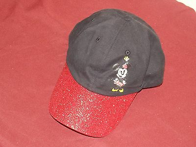 Disney Parks Baseball Hat Walt Disney World Minnie Mouse Red Black New Youth