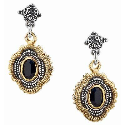 S217 ~ Sterling Silver & Swarovski Medieval Drop Earrings