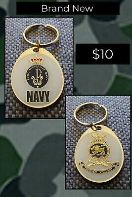 Genuine Royal Australian Navy quality key chain ring HMAS CERBERUS