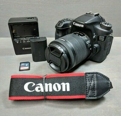 Canon EOS 70D 20.2MP Digital SLR Camera - 18-55mm STM Lens