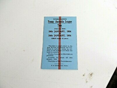 Old Vic Rail Ticket Yal  Tour 1954  Child Under 14