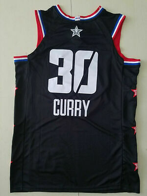 5f68a349a 2019 All Star Golden State Warriors  30 Stephen Curry Basketball Black  Jersey