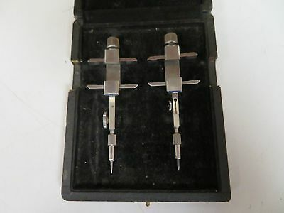 Wild Heerbrug TRAMMEL POINTS / HEADS  w/ case - FS36