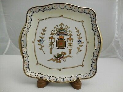 Antique Vintage Nippon Hand Painted China Large Plate Beaded Gold Trim