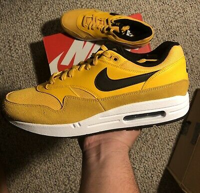 buy popular a57a0 e0166 Nike Air Max 1 Premium University Gold White Black Bv1254 700 Size 12