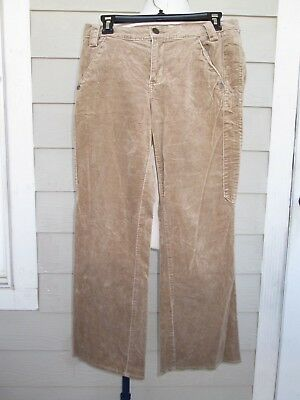 Tommy Hilfiger Jeans Grunge Khaki Brown Corduroy Slacks Pants Women's Sz 9