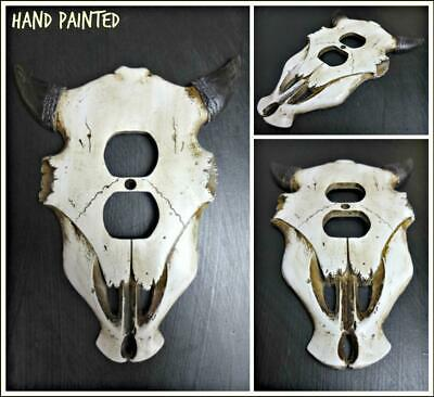 Western Rustic Cow Bull SKULL ELECTRIC OUTLET Cover Plate Cabin Lodge Decor Gift