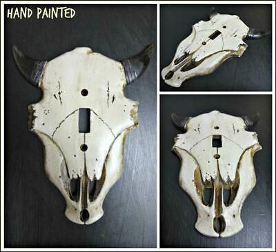 Western Rustic Cow Bull SKULL SINGLE Light Switch Cover Plate Cabin Lodge Decor