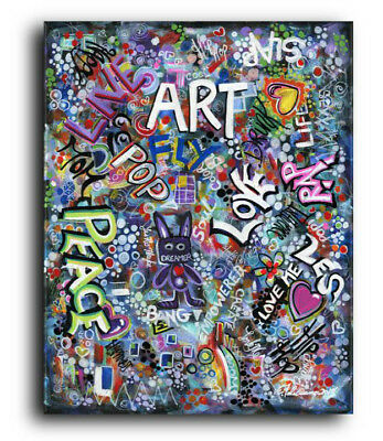 Original Painting Graffiti Abstract Pop Street Art Modern