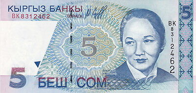 KYRYGZSTAN 5 ₴om Uncirculated note Bargain!!