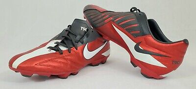 0a8147c4977 NIKE MENS RARE T90 Shoot IV Soccer Cleats 472547-610 Red Sz 11 ...