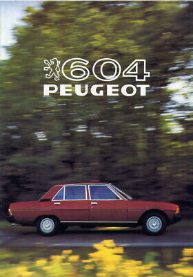 Catalogue brochure prospekt Peugeot 604 1981 FR
