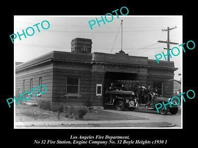 OLD PHOTO LOS ANGELES FIRE DEPARTMENT LAFD, No 32 STATION BOYLE HEIGHTS c1930 2