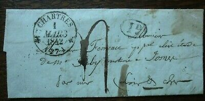 Lettre ancienne : Chartres 1 mars 1842