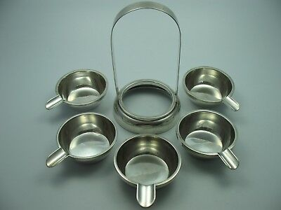 Very Beautiful Rare Vintage Ashtray Set from 800 Silver