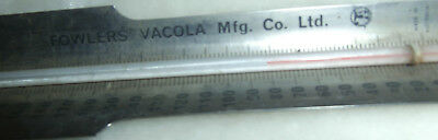 Vintage Fowlers Vacola Stainless Steel Thermometer~Advertising