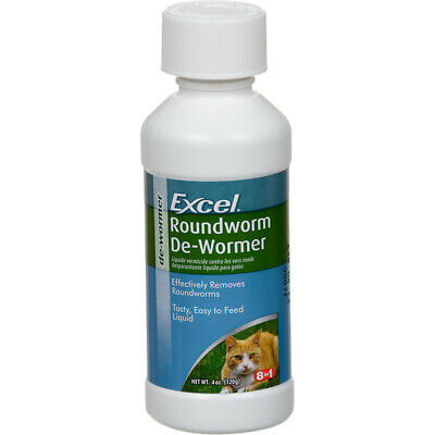 8-In-1 Pet Products Excel Roundworm Cat De-Wormer Effectively - 4 fl. oz./120 ml