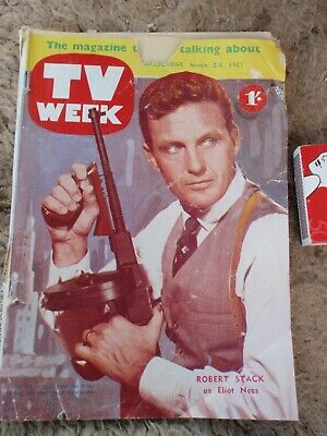 1961  TV WEEK.  .Advertising & Articles  70 pages, cover damage
