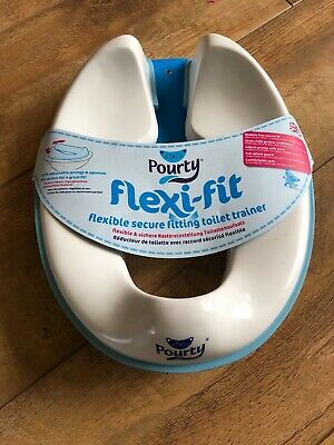 Pourty flexi-fit Child Toilet Seat Trainer Toddler NEW Potty