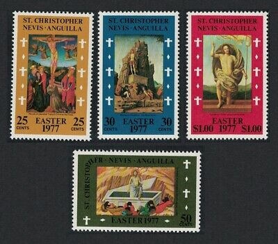 St. Kitts-Nevis Easter Paintings from National Gallery London 4v MNH SG#370-373