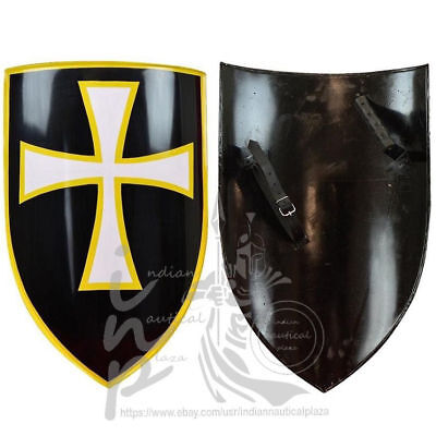 Knights Templar Medieval Regal Holy White Cross Mattel Shield Cosplay